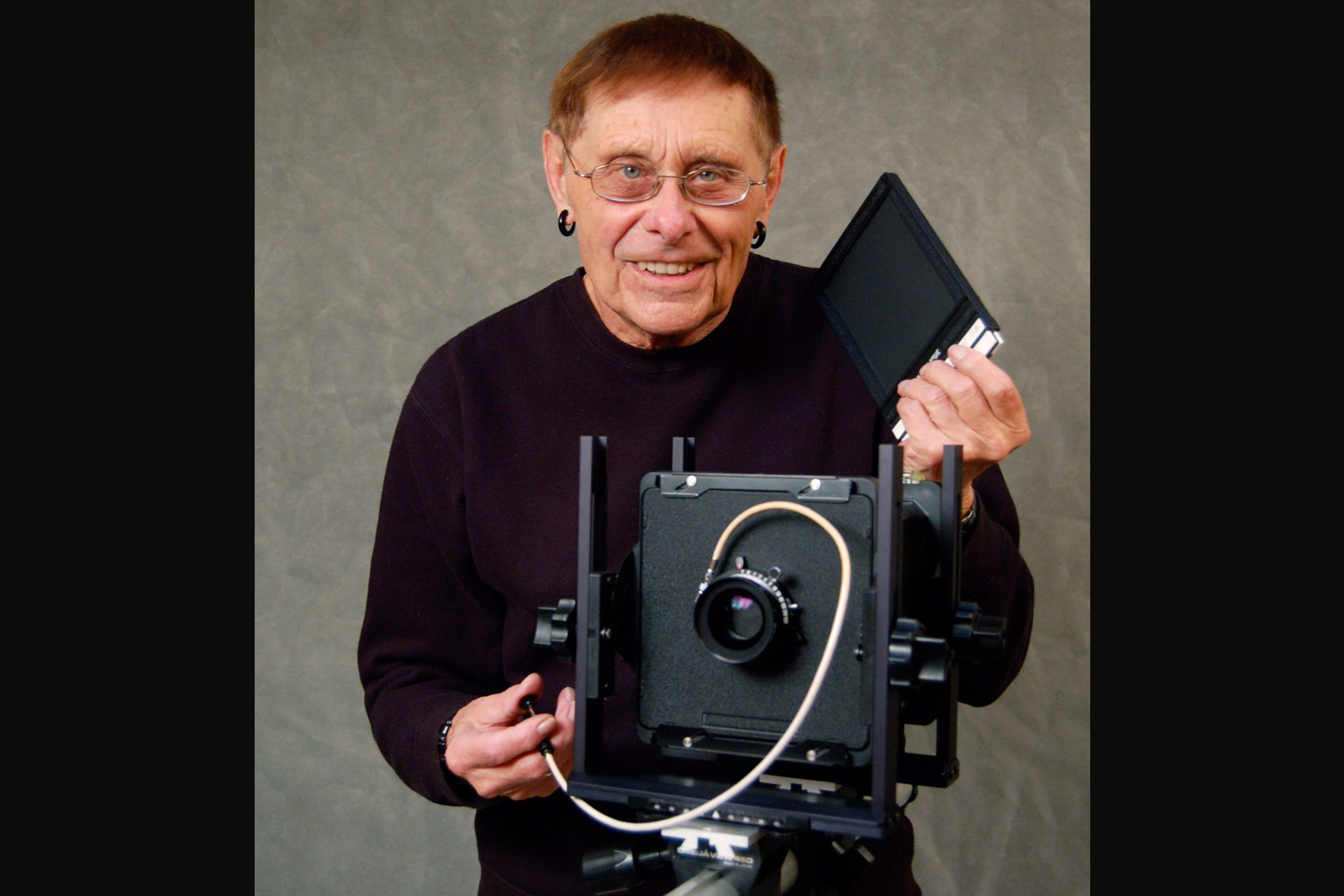 Fakir Musafar with a camera